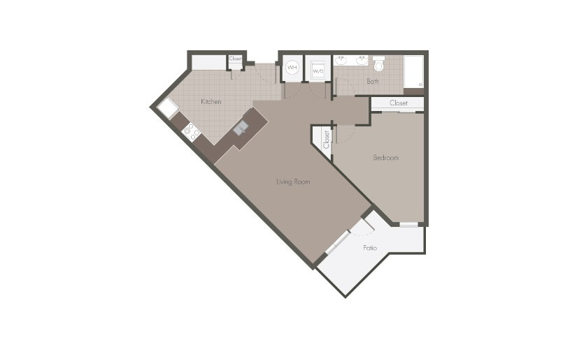 Beaucatcher Flats A2 Floorplan